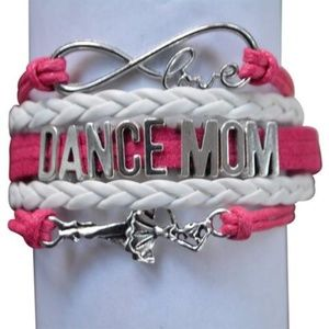 Dance Mom Bracelet - Pink & White